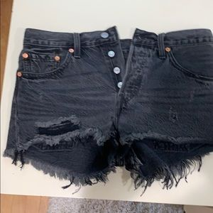 Dark wash Levi shorts